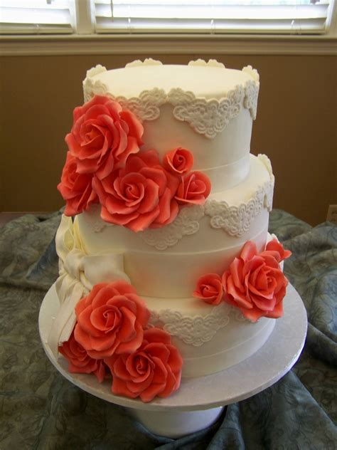 Coral Wedding - CakeCentral