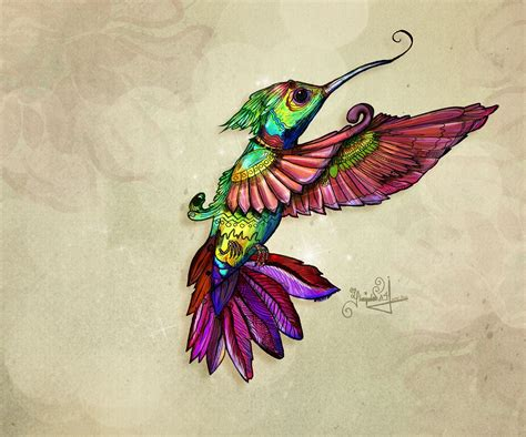 He'll take your wish on Behance #hummingbird #colibrí #