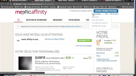 Supprimer un compte Meetic Affinity - YouTube