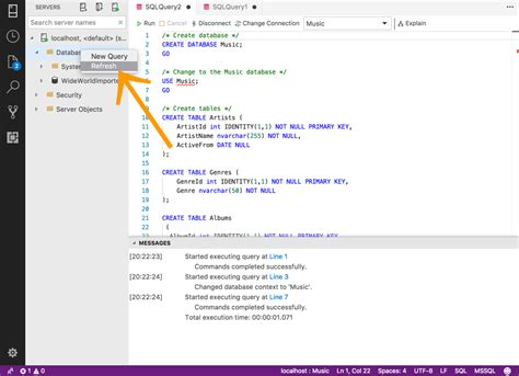 Create a SQL Server Database with SQLOPS | Database