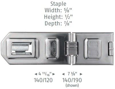 Abus 140/120 C 120mm Hardened Stainless Steel Security